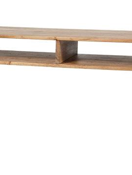 Duverger Loop - TV-meubel - massieve acacia - 2 nissen - metalen beugels en onderstel