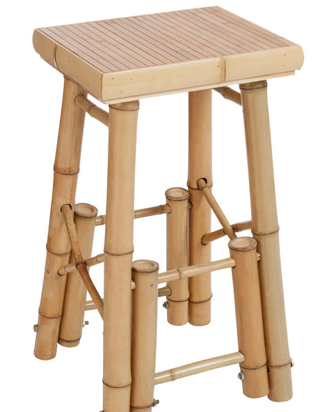 Duverger Nature bamboo - Barstoelen - set van 2 - bamboe - naturel