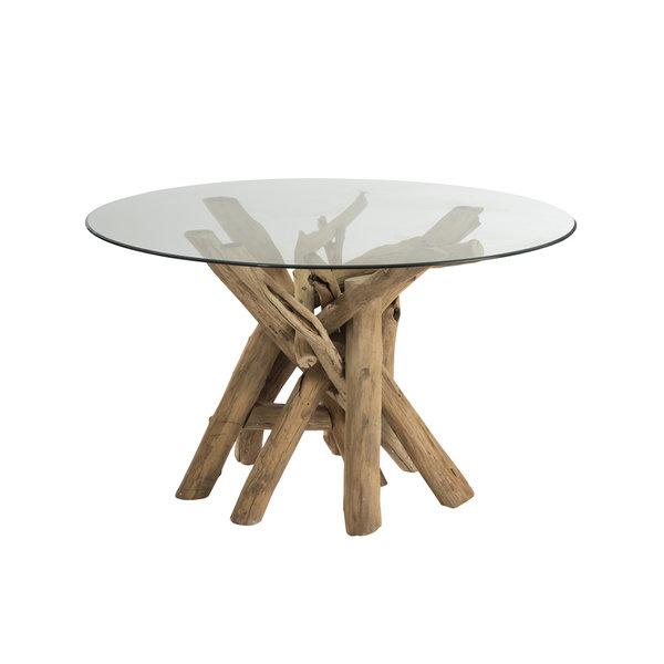 Duverger® Nature branches - Eettafel - hout takken - glazen blad - rond