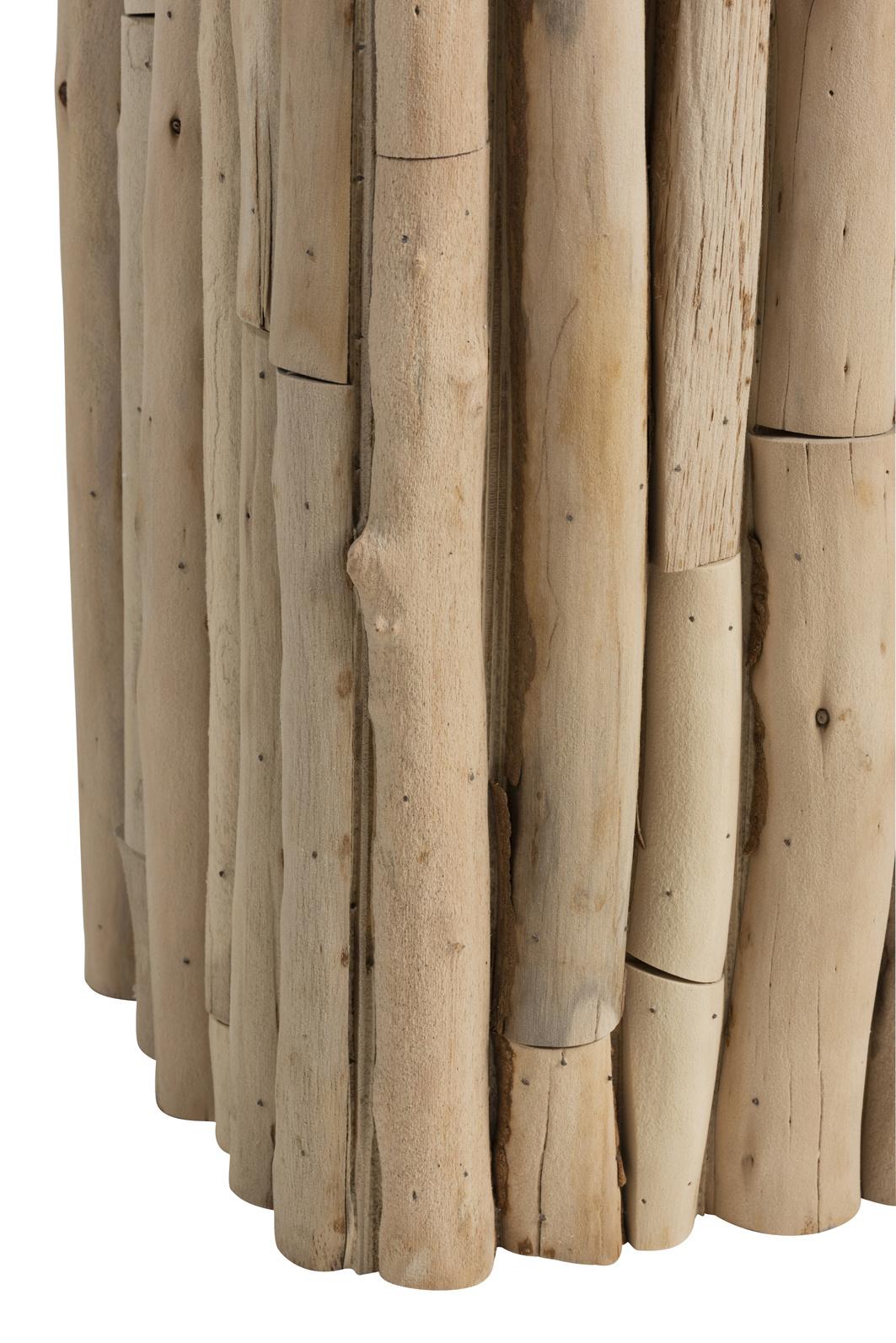 Duverger Nature branches - Plantenzuil - hout takken - glazen blad - vierkant
