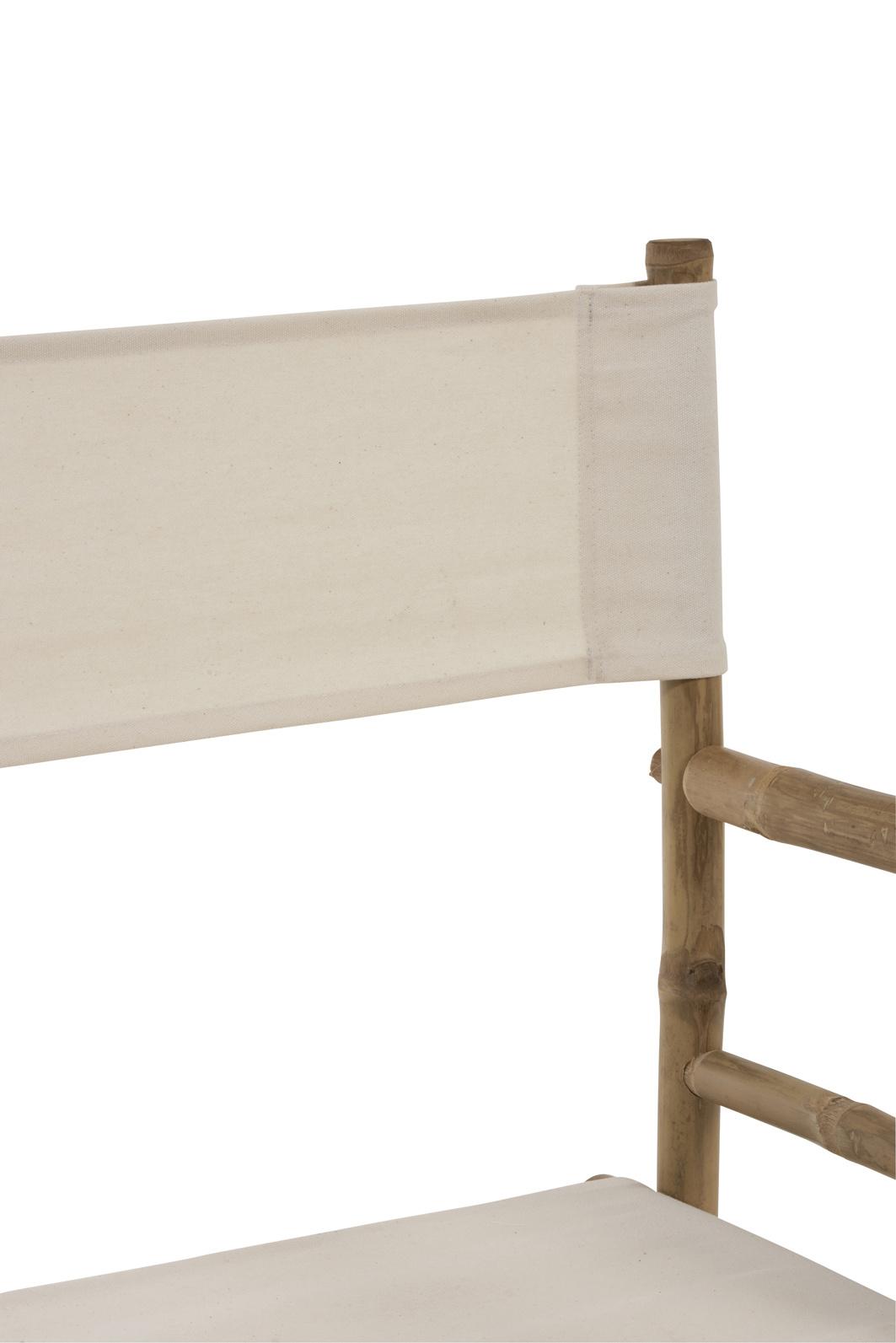 Duverger Nature cinema - Regisseur stoel - bamboe - nature - ecru textiel zit - plooibaar