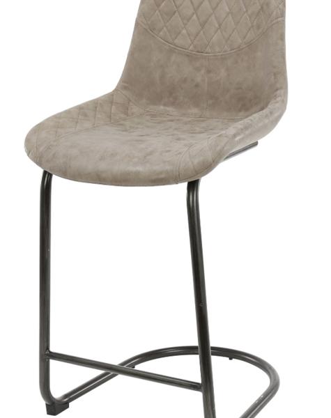 Duverger Cross - Barstoelen - set van 4 - wax PU kuipzitting - bruin - swingframe - ronde buis