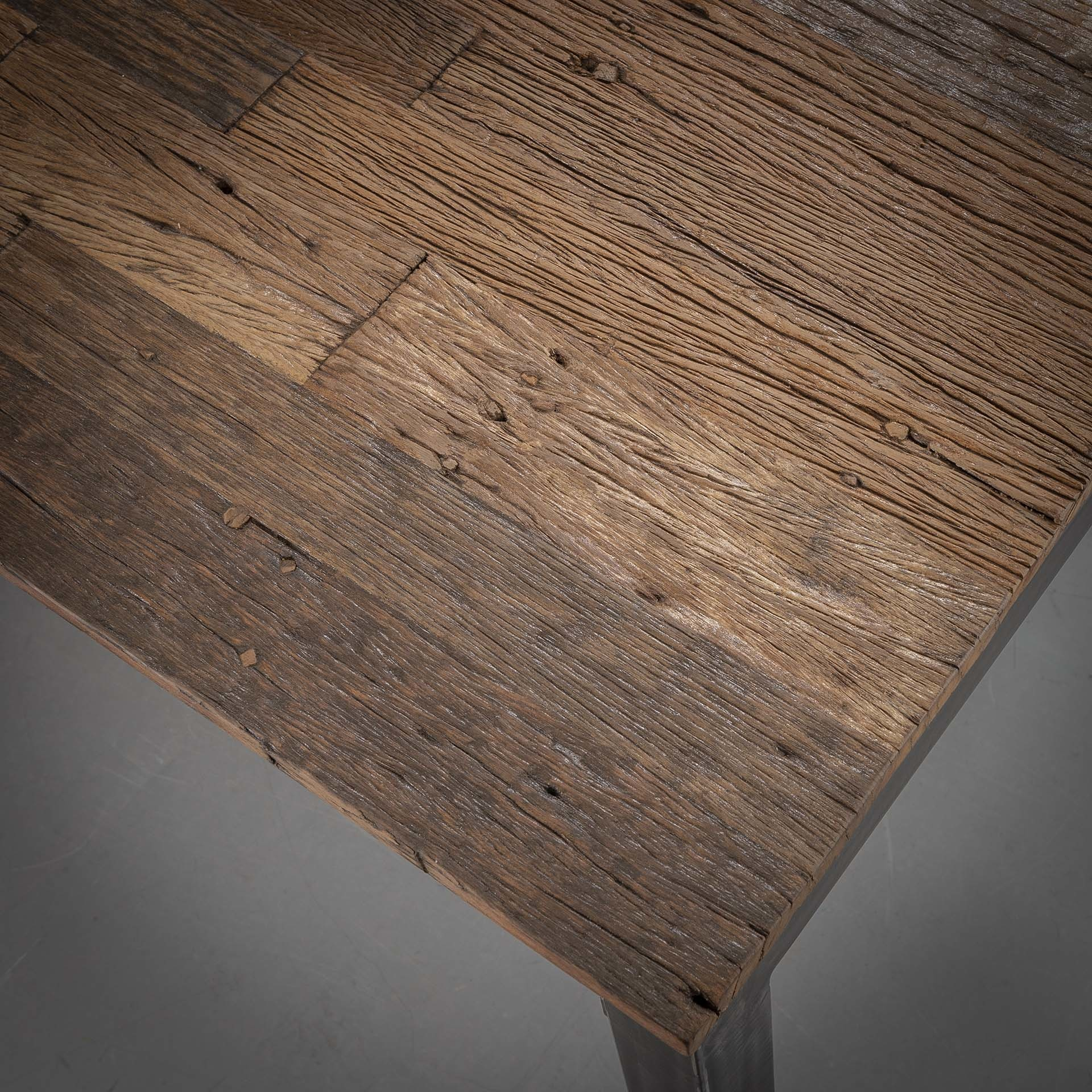 Duverger Recycled - Eettafel - grained - robuust hardhout - 210x90cm