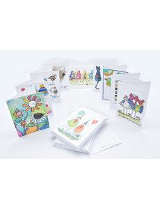 Promo Pakket met 50 wenskaarten & enveloppen