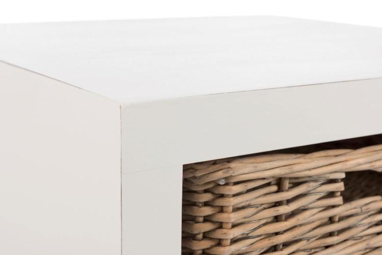 Duverger Cottage - Nachtkastje - wit - hout - 1 mand - landelijk