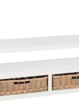 Duverger Cottage - Salontafel - rechthoekig - wit - hout - 2 manden - 1 nis - landelijk