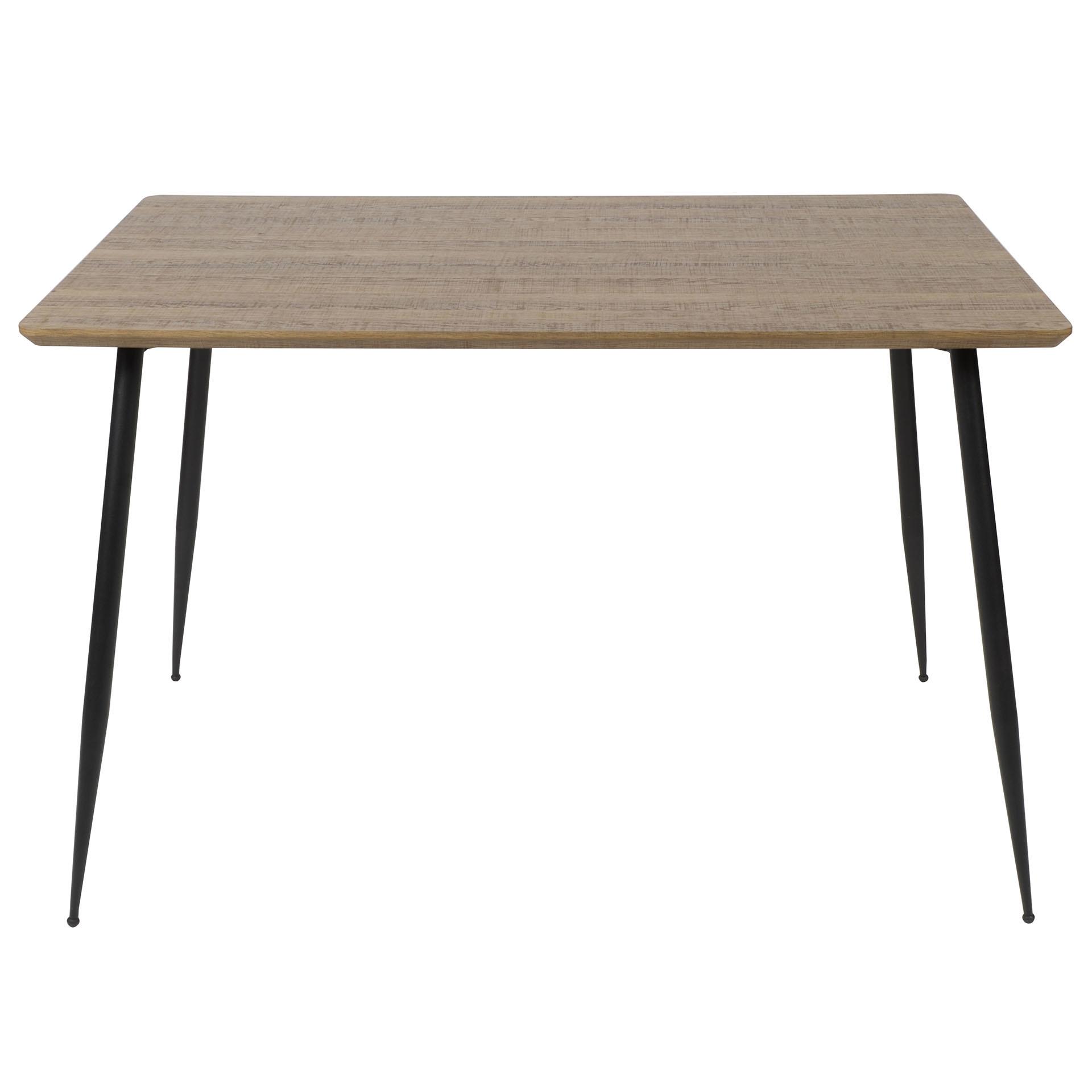 Duverger Straight - Eettafel - L120cm - MDF blad - 3D eiken bruin - tapse ronde poten