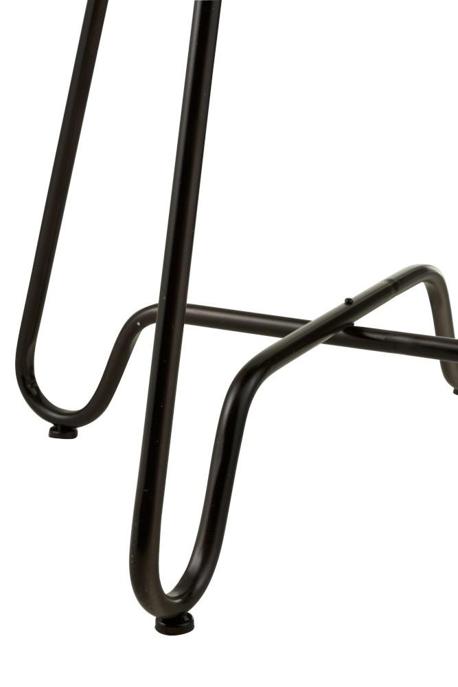 Duverger Bistro - Bartafel - rond - zwart - metaal