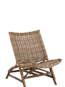 Duverger Lounge vintage - Fauteuil - rotan - bamboe - naturel