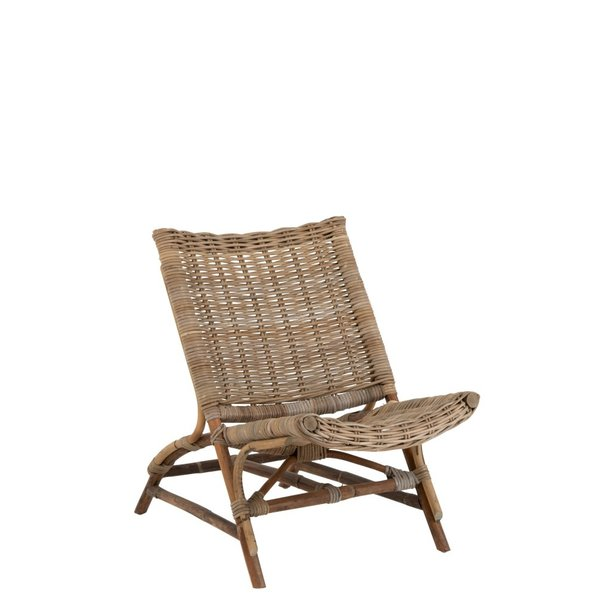 Duverger® Lounge vintage - Fauteuil - rotan - bamboe - naturel