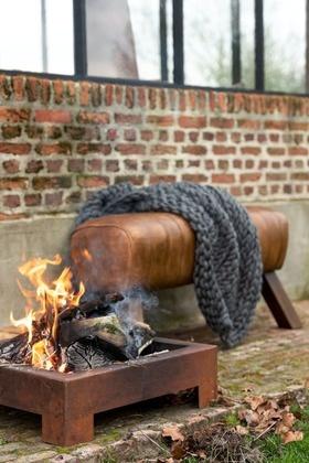 Duverger Gym - Zitbank - leder - cognac - houten poten