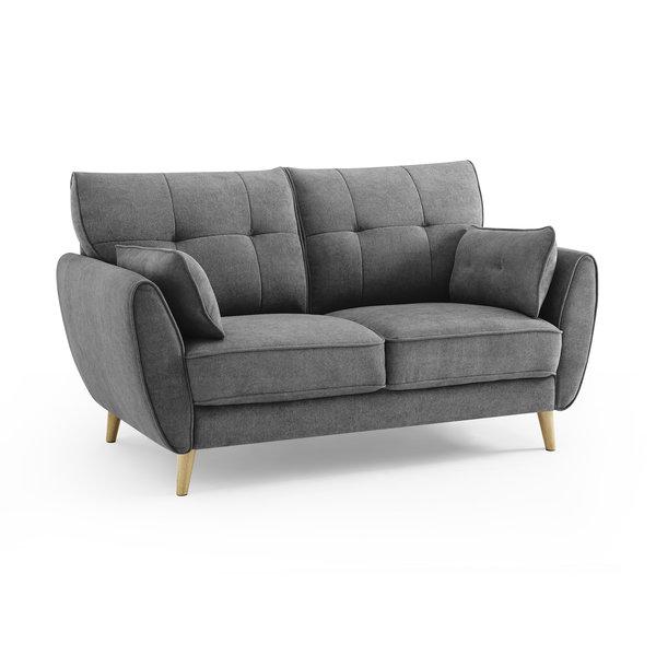 Duverger® Pure Scandinavian - Sunny Day - Sofa - 2-zitsbank - grijze stof - houten pootjes