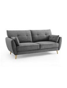 Duverger® Pure Scandinavian - Sunny Day - Sofa - 3-zitsbank - grijze stof - houten pootjes