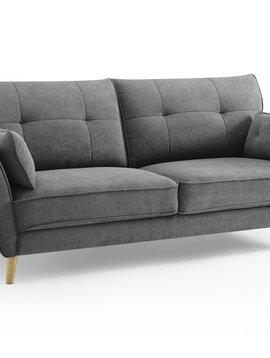 Duverger Pure Scandinavian - Sunny Day - Sofa - 3-zitsbank - grijze stof - houten pootjes