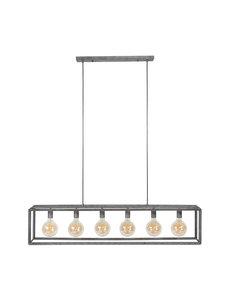 Duverger® Diamond - Hanglamp - staven in ruitvorm - oud zilver - 6 L - met 6 LED lichtbronnen