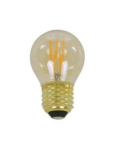Duverger® Lichtbron LED filament bol dia 4,5cm - amberkleurig