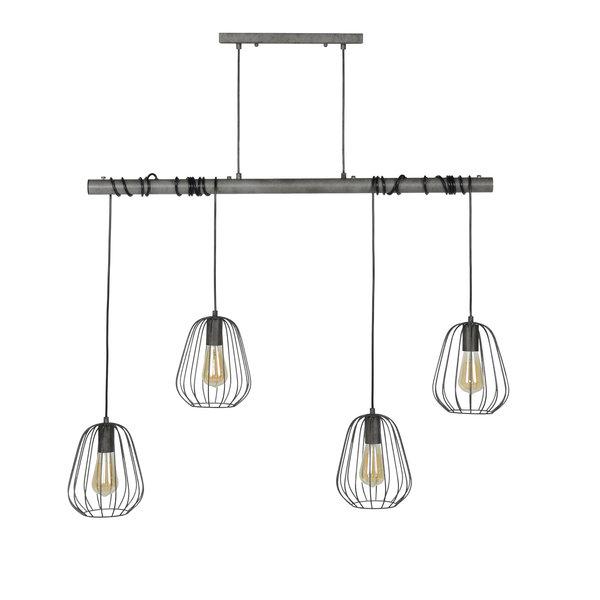 Duverger® Bird cage - Hanglamp - 4L dia18 cm - oud zilver - met 4 LED lichtbronnen