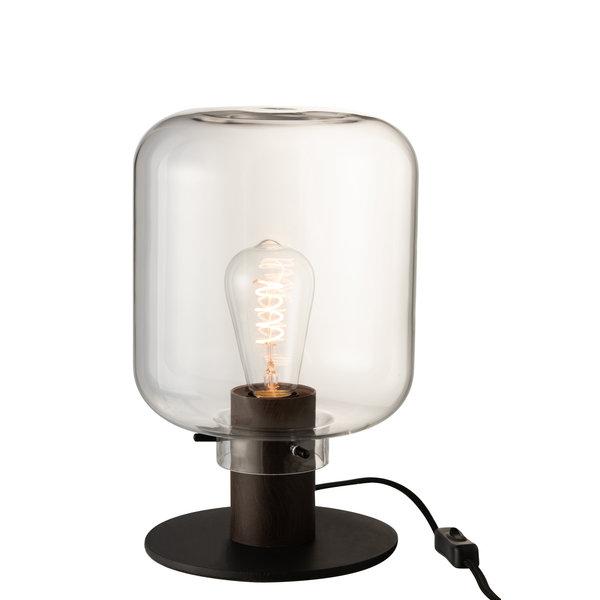 Duverger® Standing jar - Tafellamp - glas -  transparant - zwart