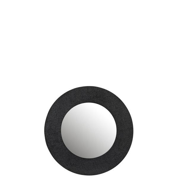 Duverger® Mirror Mirror - Spiegel - jute textuur - zwart - alu ring- small