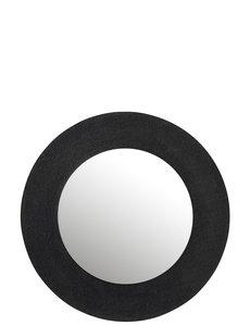 Duverger® Mirror Mirror - Spiegel - jute textuur - zwart - alu ring- large
