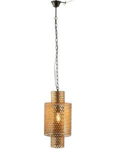 Duverger® Gold one small - Hanglamp - goud - metaal - ruitmotief - vintage