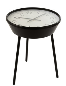 Duverger® It's time - Bijzettafel - ingebouwde klok - metaal - bruin