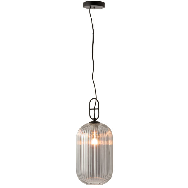 Duverger® Tall hanging one - Hanglamp - gefumeerd glas