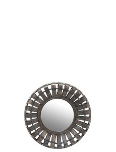 Duverger® Wooden Mirror - Spiegel - rond - donker sparhout - small