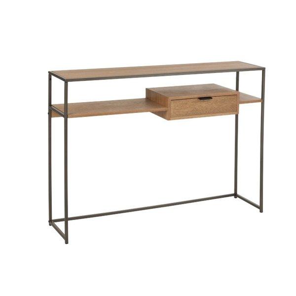 Duverger® Just Scandinavian - Sidetable - MDF - eik fineer - 1 lade - metalen frame
