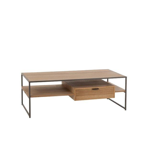 Duverger® Just Scandinavian - TV-meubel - MDF - eik fineer - 1 lade - metalen frame