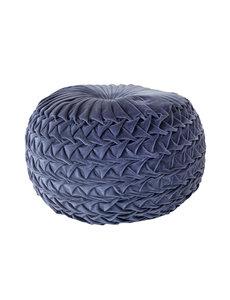 Duverger® Pleated - Poef - rond - antraciet grijs - geplisseerde stof - dia 50cm