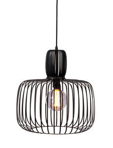 Duverger® Steel basket - Hanglamp - staaldraad - zwart - dia  45cm - vintage design