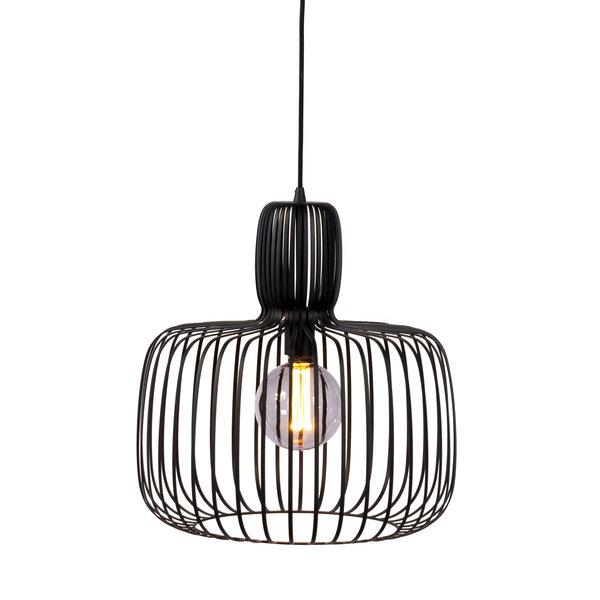 Duverger® Steel basket - Hanglamp - staaldraad - zwart - dia  55cm - vintage design