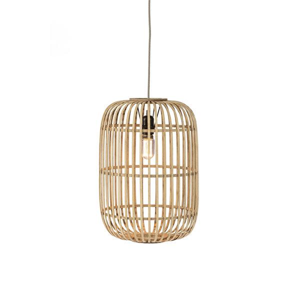 Duverger® Etnic bamboo - Hanglamp -1-lichts - bamboe korf - naturel