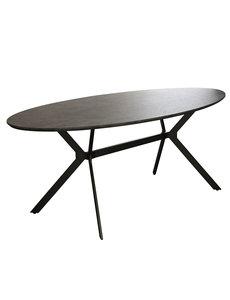 Duverger® Trendy - Eettafel - ovaal -L200cm - MDF - 3D print - betonlook grijs