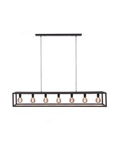 Duverger® Cage - Hanglamp - stalen frame - zwart - 7-lichts