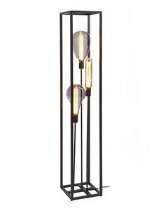 Duverger® Cage - Vloerlamp - stalen frame - zwart - 3-lichts
