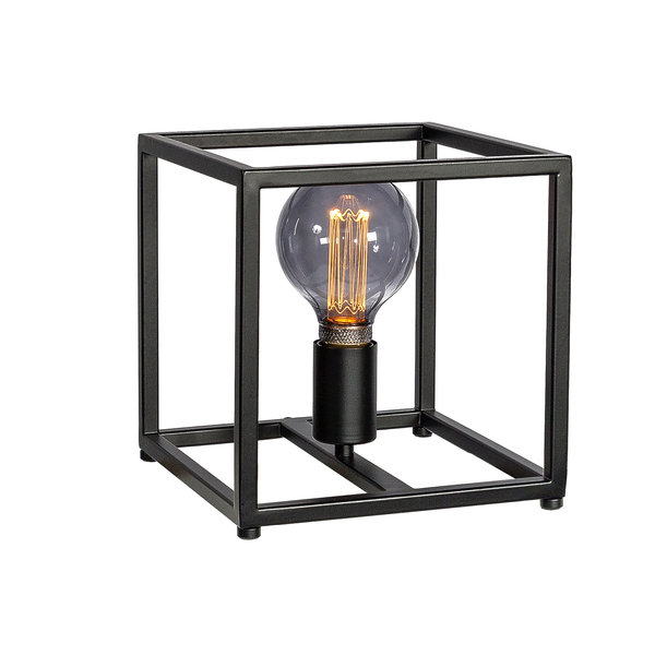 Duverger® Cage - Tafellamp - small - 22cm - stalen frame - zwart - 1-lichts
