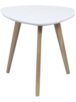 Duverger Pure Scandinavian - Bijzettafel - wit - driehoekig afgerond - 50x50x45cm