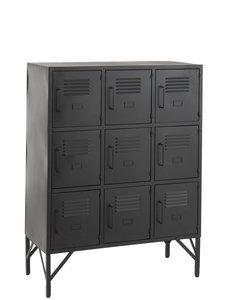Duverger® Locker - Opbergkast - metaal - zwart - 9 deuren