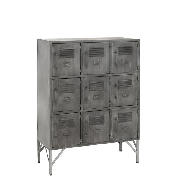 Duverger® Locker - Opbergkast - metaal - zilverkleurig - 9 deuren