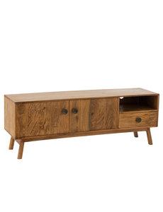 Duverger® Scandinavian mango - TV-meubel - massief mango hout - 2 deuren - 1 lade - 1 nis