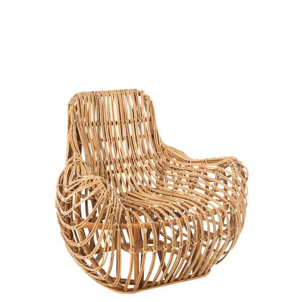 Duverger® Nature design - Fauteuil - rotan - naturel - armleuningen