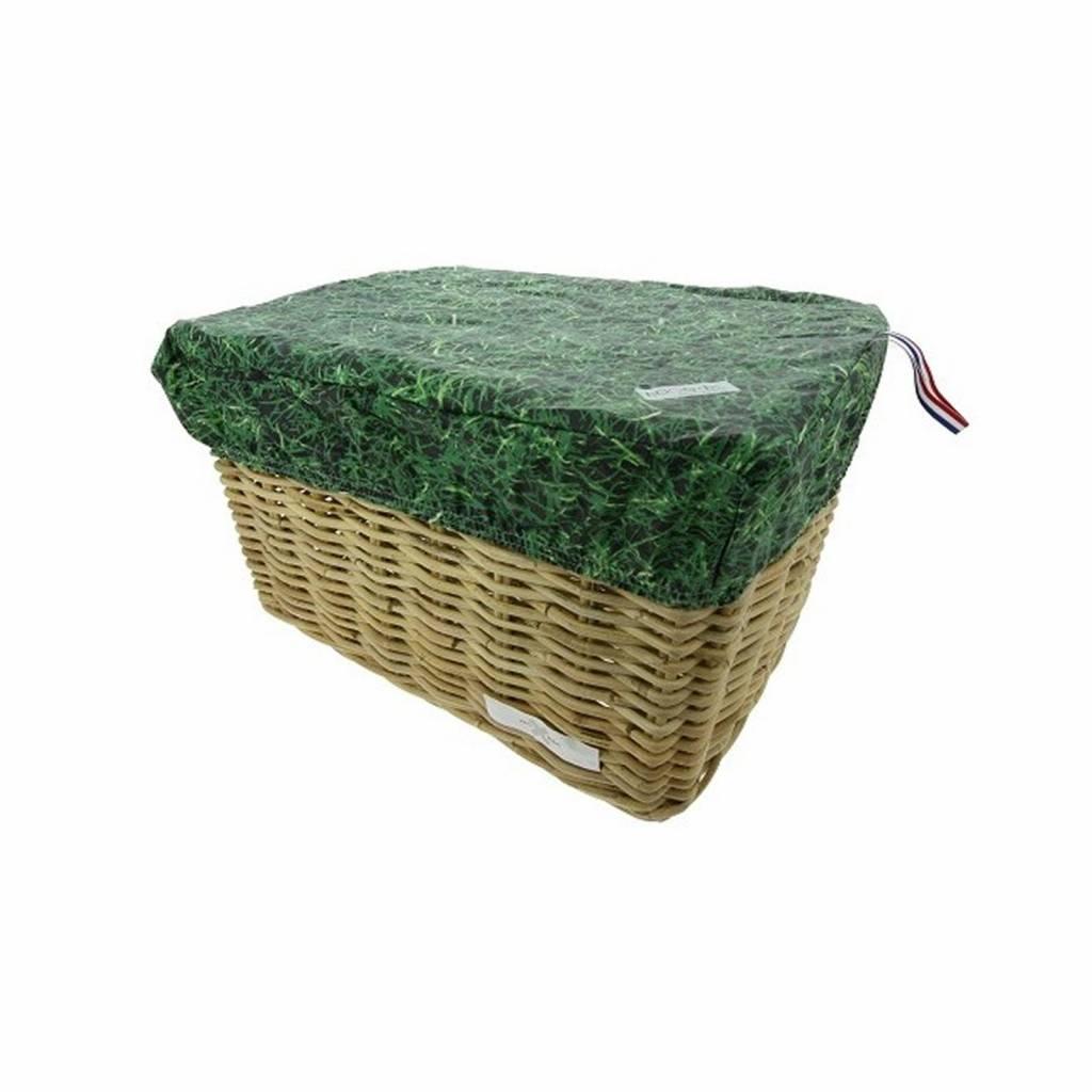 Fietskrat Fietsmand Hoes Large Grass