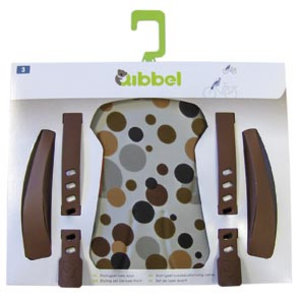 Qibbel stylingset luxe dots bruin voorzitje
