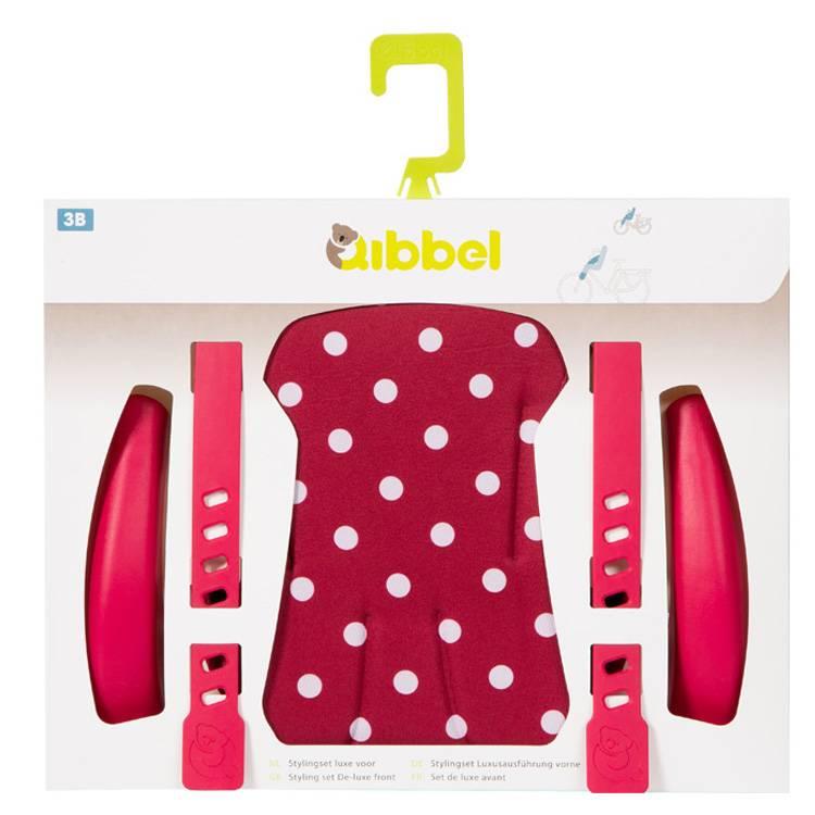stylingset Polka Dot red past op een voorzitje