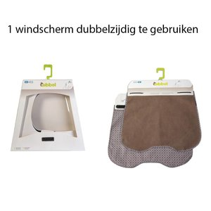 Qibbel windscherm Elements bruin