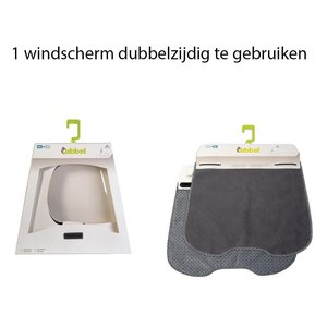 Qibbel windscherm Elements grijs