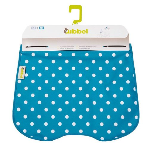 Qibbel windschermflap Polka Dot blue