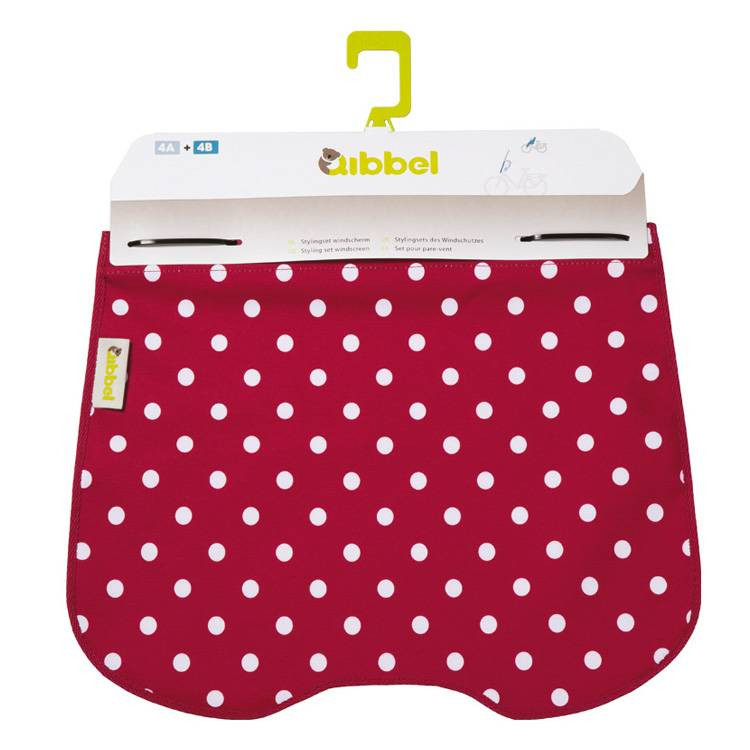 windschermflap Polka Dot red